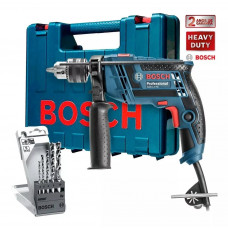 Furadeira de Impacto 650 Watts + Kit 5 Brocas e Maleta - GSB 13 RE - Bosch